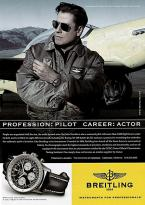 John Travolta in a 2006 ad for Breitling Navitimer. Photographed by Patricia von