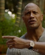 It looks like Dwayne Johnson is wearing Breitling Transocean Chronograph watch in the HBO tv series Ballers.