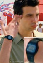 Jay Baruchel wears a Casio F105W-1A watch in the movie She's Out Of My League.
