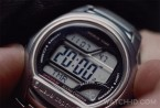 The Casio wave ceptor gets several prominent close-up shots in the film Non-Stop