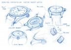 Drawings for the watch worn by Murph in the movie Interstellar