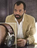 Jeffrey Wright (as Felix Leiter) wears a Hamilton Khaki X-Wind Automatic watch i