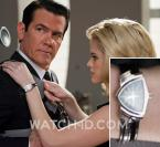 Alice Eve, as young Agent O, wearing a Hamilton Ventura watch.
