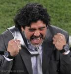Diego Maradona wearing two Hublot Big Bang watches during the FIFA World Cup 201