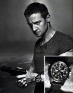Aaron Cross (Jeremy Renner) wears an IWC Pilot's Watch Double Chronograph Top Gu