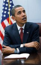 President Barack Obama wearing his Jorg Gray 6500 watch