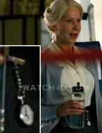 Helen Mirren wearing a nurse lapel watch in the movie Arthur