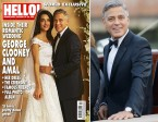 George Clooney wearing an Omega De Ville Trésor during his wedding on 27 September 2014 in Venice