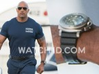 Dwayne Johnson wears a Panerai Luminor 1950 Submersible in San Andreas