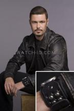 Carlos Bernard wearing the Red Monkey Armada GT watch in a promotional shoot fo