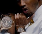 Trey Songz wears a Rolex Sky-Dweller in the music video for his song Touchin, Lovin featuring Nicki Minaj.
