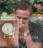 Ryan Gosling wearing a gold watch with California dial in Crazy, Stupid, Love.