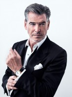 Pierce Brosnan wears a Speake-Marin Resilience Red Gold 42mm in his forst promotional photo as the brand ambassador for Speake-Marin
