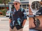 Robert De Niro wears a Tag Heuer Aquaracer 500m Ceramic in Dirty Grandpa