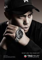 Tiger Woods promoting the TAG Heuer Link Calibre S Chronograph with Perpetual Re