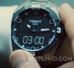 Simon Pegg wears a Tissot T-Touch Expert Solar watch in Mission Impossible 5 - Rogue Nation.