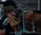 Chadwick Boseman wears a Bell & Ross BRS 92 Golden Heritage watch in 21 Bridges.
