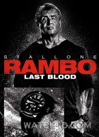 Sylvester Stallone wears a Carl F. Bucherer ScubaTec watch on the poster for Rambo: Last Blood.
