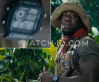 Kevin Hart wears a Casio AE1200WH-1A watch in Jumanji: Welcome to the Jungle.