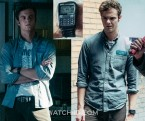 Jack Quaid wears a Casio DBC32-1A databank watch in The Boys.