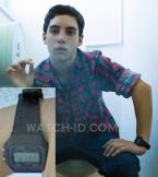 John D'Leo wearing a Casio F-91W-1 watch in The Family.
