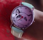Taylor Swift wears a wristwatch with a cat face on the dial in the You Need To Calm Down music video.