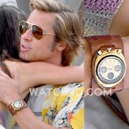 Brad Pitt wears a vintage gold Citizen 8110 Bullhead watch in Once Upon A Time In Hollywood.