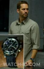 Paul Walker wears a Jaeger-LeCoultre Deep Sea Chronograph Q2068570 in the movie