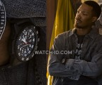 Corey Hawkins wears a Luminox Master Carbon Seal Watch 3801 in the 2019 Netflix film 6 Underground.
