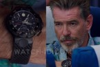 Pierce Brosnan wears a Movado 800 Chronograph 2600073 watch in the 2015 movie No Escape.