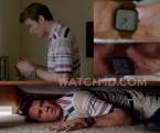 Thomas Cocquerel wears a Nixon Ragnar watch in the movie The Divorce Party.