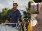 Sam Claflin wears a Seiko SKX009 watch with 'Pepsi' bezel in the movie Adrift (2018).