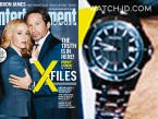 David Duchovny's watch on the X-Files cover of Entertainment Weekly.