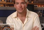 Michael Weatherly wearing an Omega Seamaster Planet Ocean on the set of NCIS