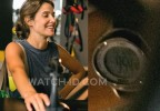 Cobie Smulders wears a Timex T5K498 Ironman All Day 50-Lap watch with Plum silicone strap in the movie Results.