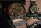 Hugh Jackman wears a green Victorinox Swiss Army Original watch in the 2016 movie Eddie The Eagle.