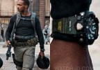 Anthony Mackie wears a Casio G-Shock MUDMASTER GWG1000-1A3 watch in Outside The Wire.