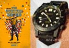 Joel Kinnamon wears a Resco RTAC GMT PVD Green watch in The Suicide Squad