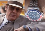 "James Spader's character Raymond ""Red"" Reddington wears a Rolex GMT-Master on a Jubilee bracelet in NBC's show The Blacklist."