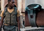 Damson Idris wears a Timex Marathon T5K802 watch with rubber strap in the Netflix film Outside The Wire (2021).