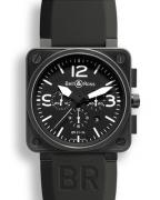 Bell & Ross 01-94 Carbon with white details (the watch seen in the film Dark Hor