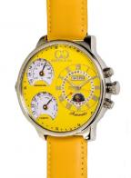 Curtis & Co. Big Time Air, with yellow leather strap and yellow dial