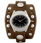 Red Monkey Ladies' Barracuda Jetson with Walnut leather band and Black face (in