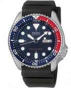 Seiko SKX009 with black rubber band (the same style rubber band with straight creases, as seen in the film)
