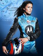 Danica Patrick wearing the Tissot T-Race 2009 Limited Edition on a promotional p