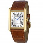 Cartier Tank Louis Cartier with date window, alligator-skin strap
