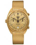 The image released by TAG Heuer shows a gold Heuer Carrera Chronograph with gold