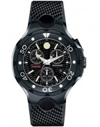 Movado 800 Chronograph 2600073, all black PVD watch