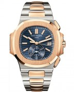 Patek Philippe Nautilus Mechanical Blue Dial Mens Watch 5980/1AR.
