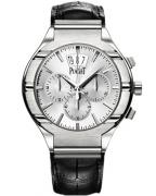 Piaget Polo chronograph, white gold, leather strap, reference number G0A32038